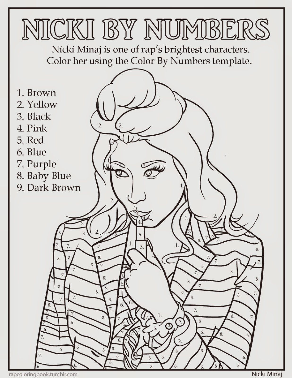 music coloring pages by numbers - photo#14