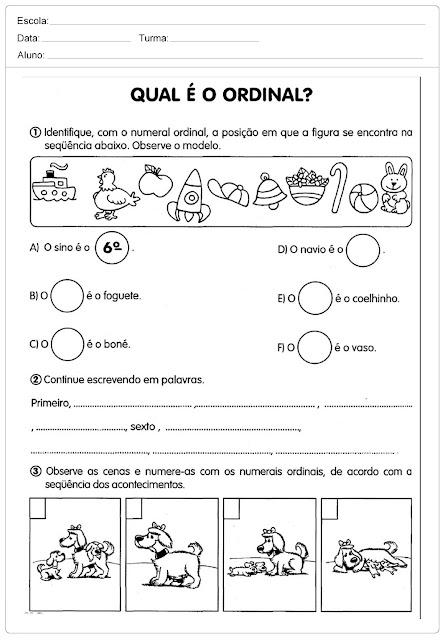 Confira nesta postagem Atividades educativas para descobrir as diferenças e definições dos números ordinais e cardinais.