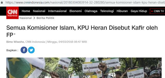 Pantas Saja Tidak Setuju, Lha Wong Sesama Muslim Saja Mengkafirkan Kok