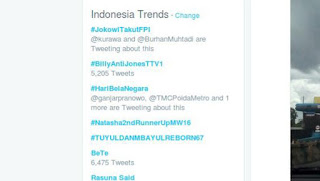 #JokowiTakutFPI Jadi Trending Topic di Indonesia