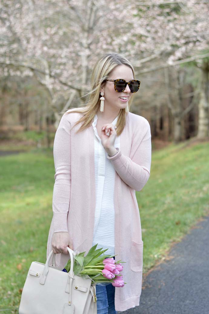 Blush Sweater Spring Outfit A Blonde's Moment