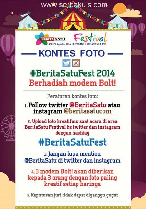 Kontes Foto #BeritaSatuFest Berhadiah Total 6 Modem Bolt