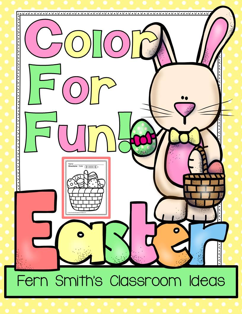 Fern Smith's Classroom Ideas Easter Fun! Color For Fun Printables at TeachersPayTeachers - TPT.