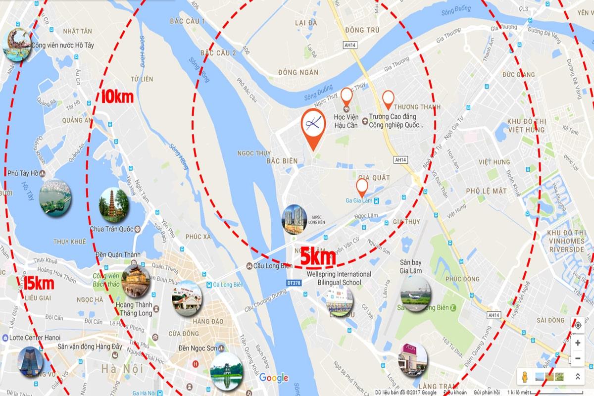 Vị trí nhà ở xã hội Rice City Thượng Thanh