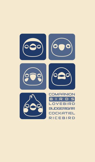 Companion Birds/Beige 14