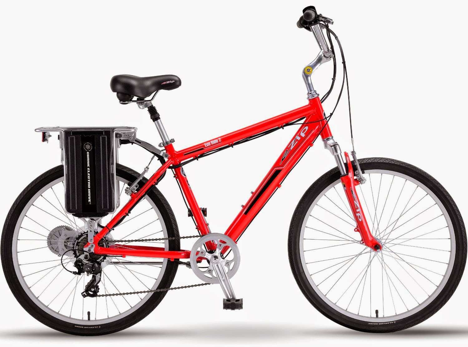 Men's eZip Eco-Ride-2 SLA Electric Bicycle, review, speeds up to 15 mph, distance range up to 22 miles