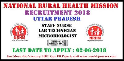 NRHM UP Recruitment 2018 – Staff Nurse & Other Posts Apply Online