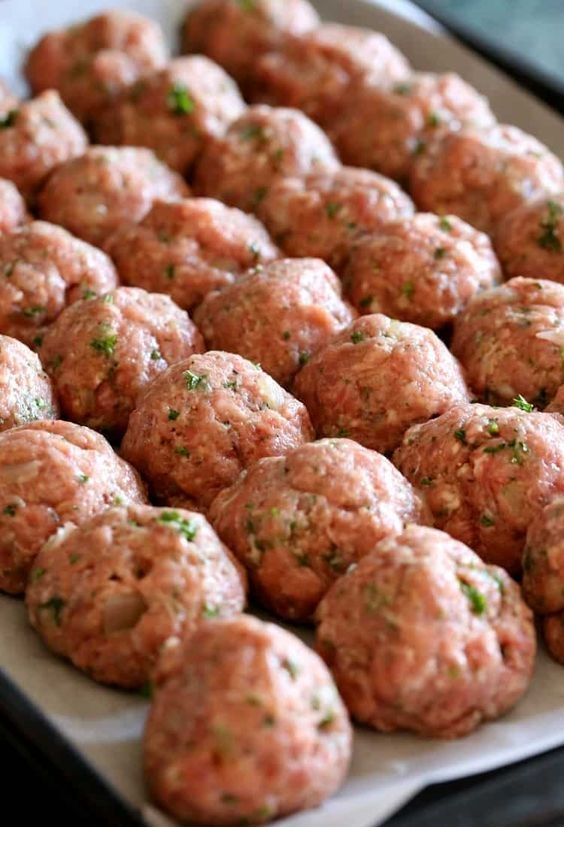 Grandma's Sunday Meatballs and Sauce