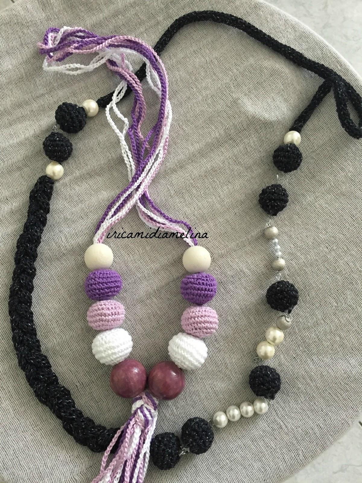 gamma completa di articoli prestazione affidabile gamma esclusiva iricamidiamelina: Collane crochet