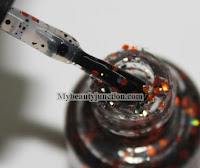 Carpe Noctem Cosmetics indie nail polish Reflection in Flames swatch review