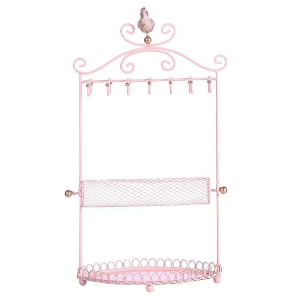 Shop Wholesale Pink Metal Jewelry Display Jewelry Stand Hanger Organizer at Nile Corp