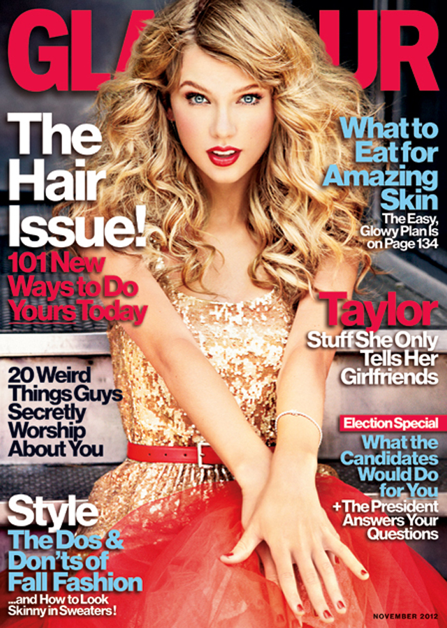 Taylor Swift Glamour November 2012 cover