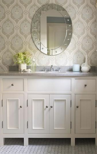 Kelsey M. Design: Wallpaper Wednesday- Bathrooms