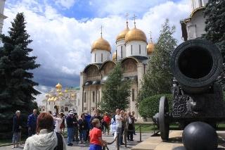 ロシアの首都モスクワの世界遺産クレムリン写真