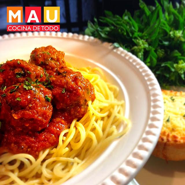 albondigas italianas faciles con espinaca