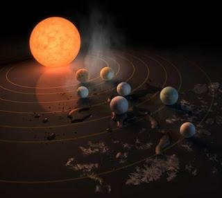 اكتشاف نجم بسبعة كواكب قد تصلح للحياة