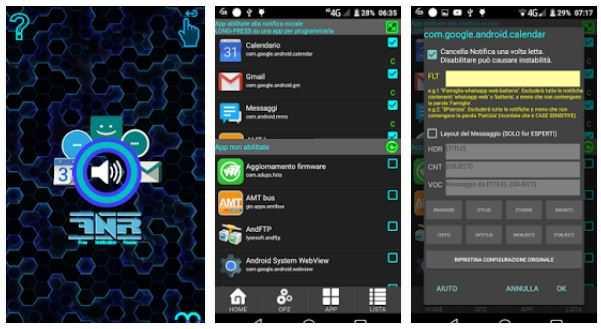 Lettore di notifiche free; legge vocalmente dal tuo Android tutte le Notifiche, messaggi, SMS e MAIL.