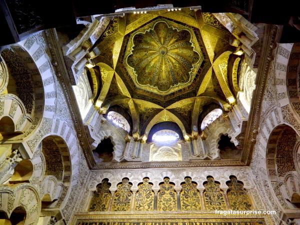 Cúpula sobre o Mihrab da Mesquita de Córdoba
