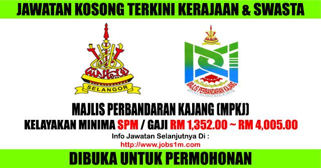 Jawatan Kosong Majlis Perbandaran Kajang (MPKj) - 26 April 2017
