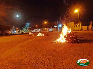 A fogueira está queimando pra conservar a tradição