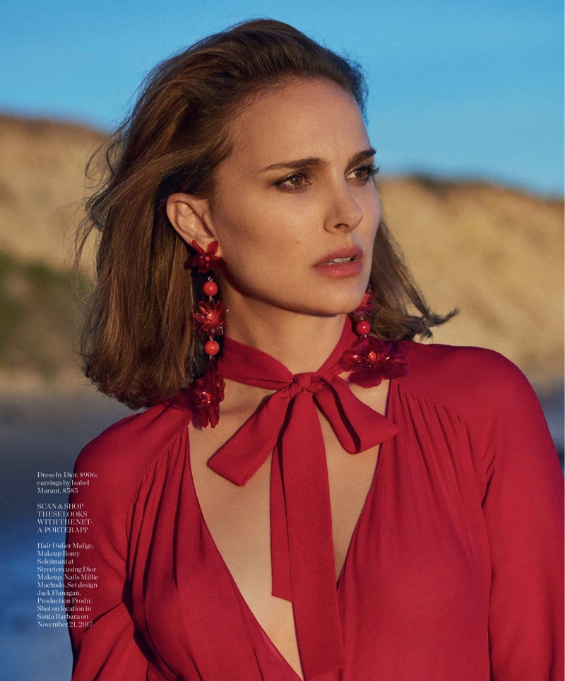 Natalie Portman Poses in Red-Hot Styles for PORTER Magazine