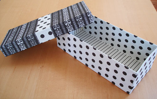 shoebox craft project
