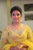 Actress Eesha in Yellow Choli Blue Ghagra at Darshakudu music launch 021.JPG