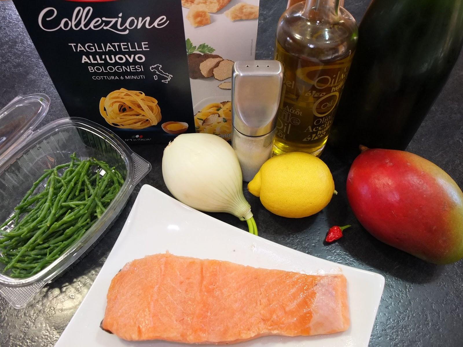 Cocinando con lola garc a tagliatelle con salm n for Cocinar con mango