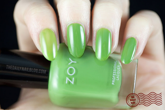 Zoya Island Fun Swatch, Jace, bright, creme, green