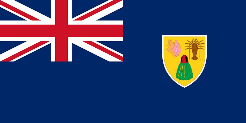 Logo Gambar Bendera Negara Turks dan Caicos PNG JPG ukuran 800 px