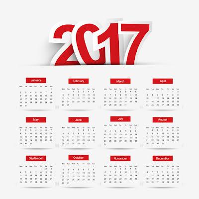 تقويم 2017 هجري وميلادي كامل ومحدث ...