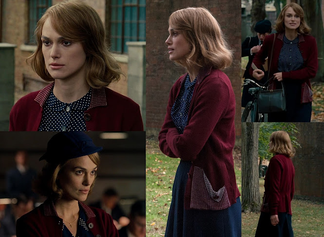 Jan Clarke Keira Knightly Maroon Cardigan