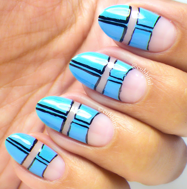 Pop Art Blue Nails