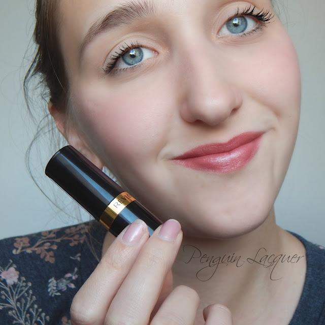 revlon super lustrous lipstick 460 blushing mauve full face