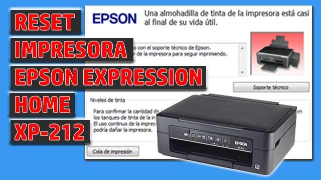 Reset impresora EPSON Expression Home XP-212