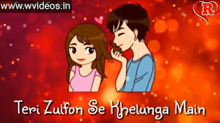 Teri Zulfon Se Khelunga Whatsapp Status Love Video
