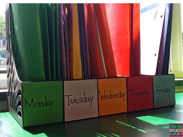The easiest way to store and organzie materials for this week's lessons.