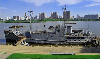 El USS Pueblo exhibido en Pionyang
