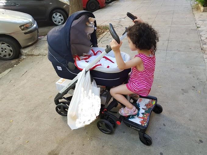 Pedana rialzabimbo per il passeggino e il cestone