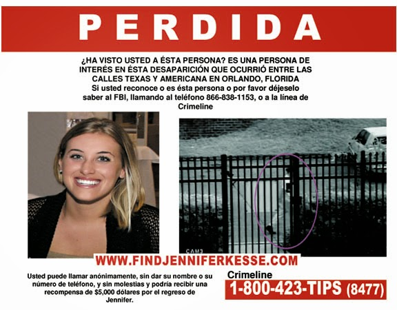 Jennifer Kesse Abducted January 24, 2006, Orlando, FL