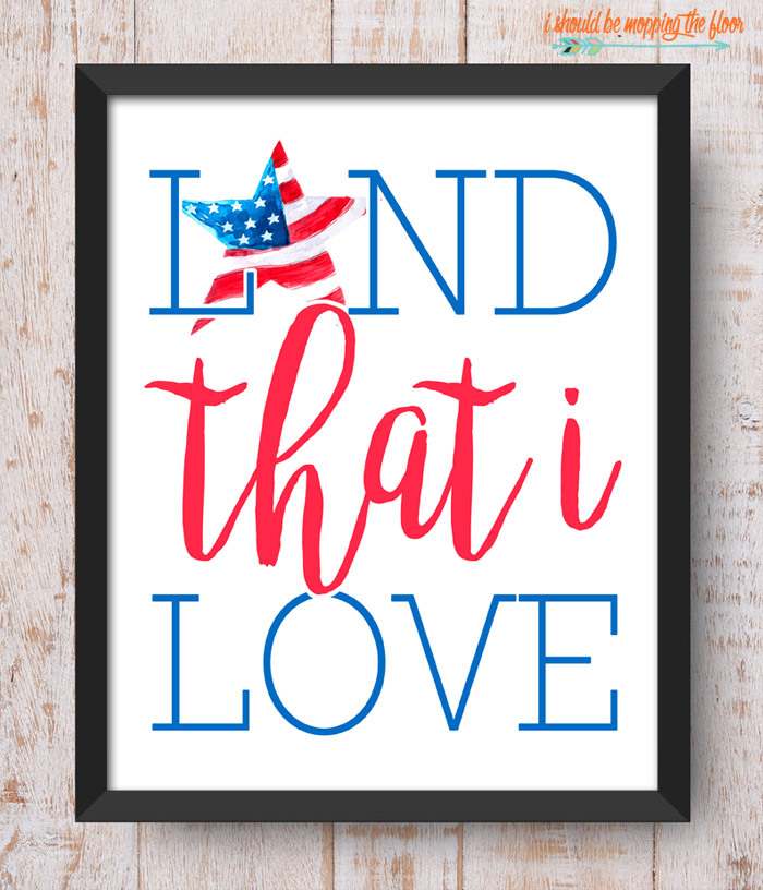 Land that I Love Printable