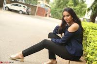 Poojita Super Cute Smile in Blue Top black Trousers at Darsakudu press meet ~ Celebrities Galleries 069.JPG