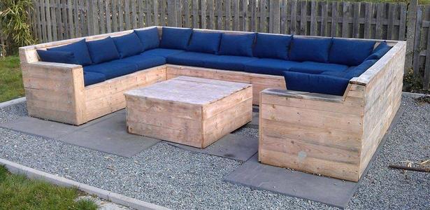 Palets de madera for Sofa exterior madera