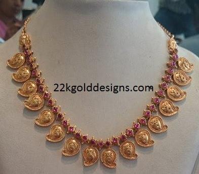 Ruby Stones Mango Necklace