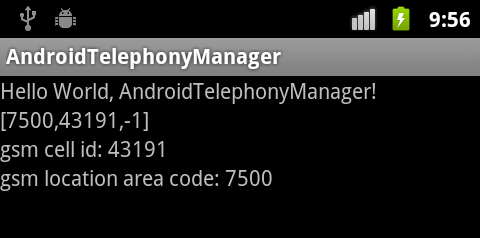 Android Coding: Get cell location on a GSM phone