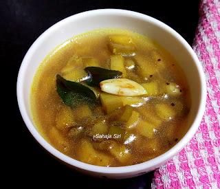 Raw banana stew