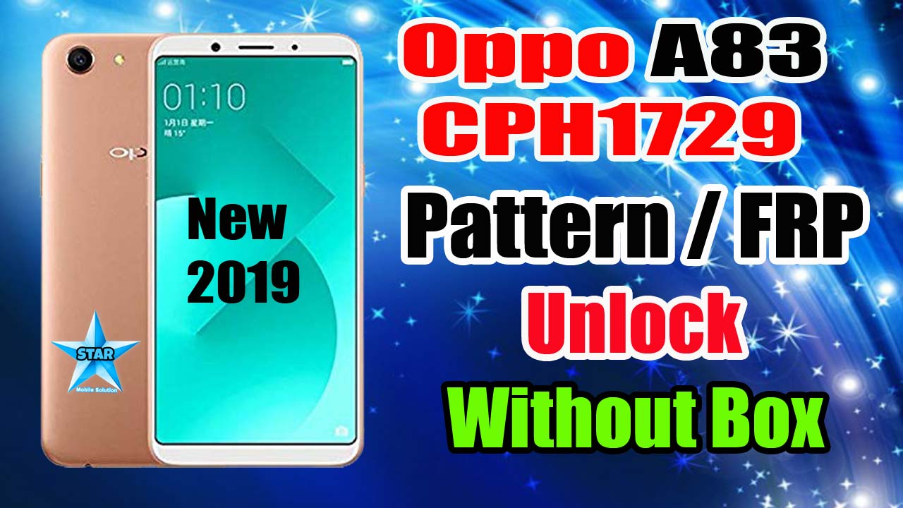 OPPO A83 (CPH1729) Password and FRP Remove in MIRACLE | Oppo A83