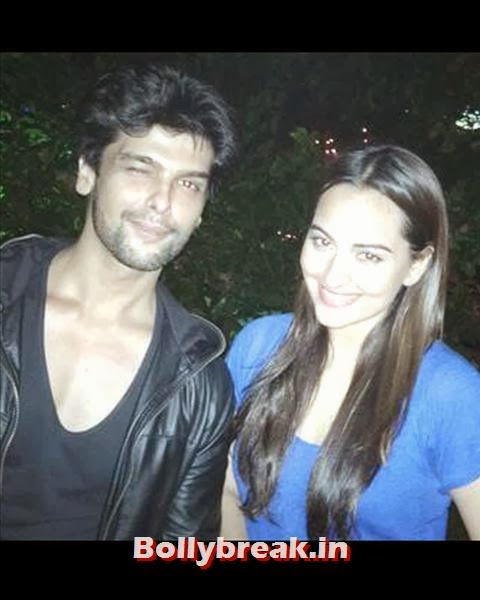 Kushal Tondon might not be on good terms with Salman, but he was still invited for the party. Here, Kushal is snapped posing with actress Sonakshi Sinha, the latter sporting a de-glam look., Salman Khan Birthday bash Pics