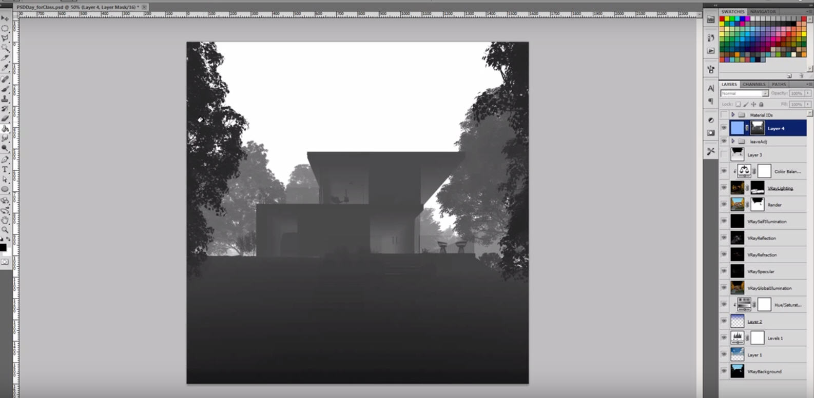 V-Ray Zdepth Channel For Depth of Field and Fog | CG TUTORIAL