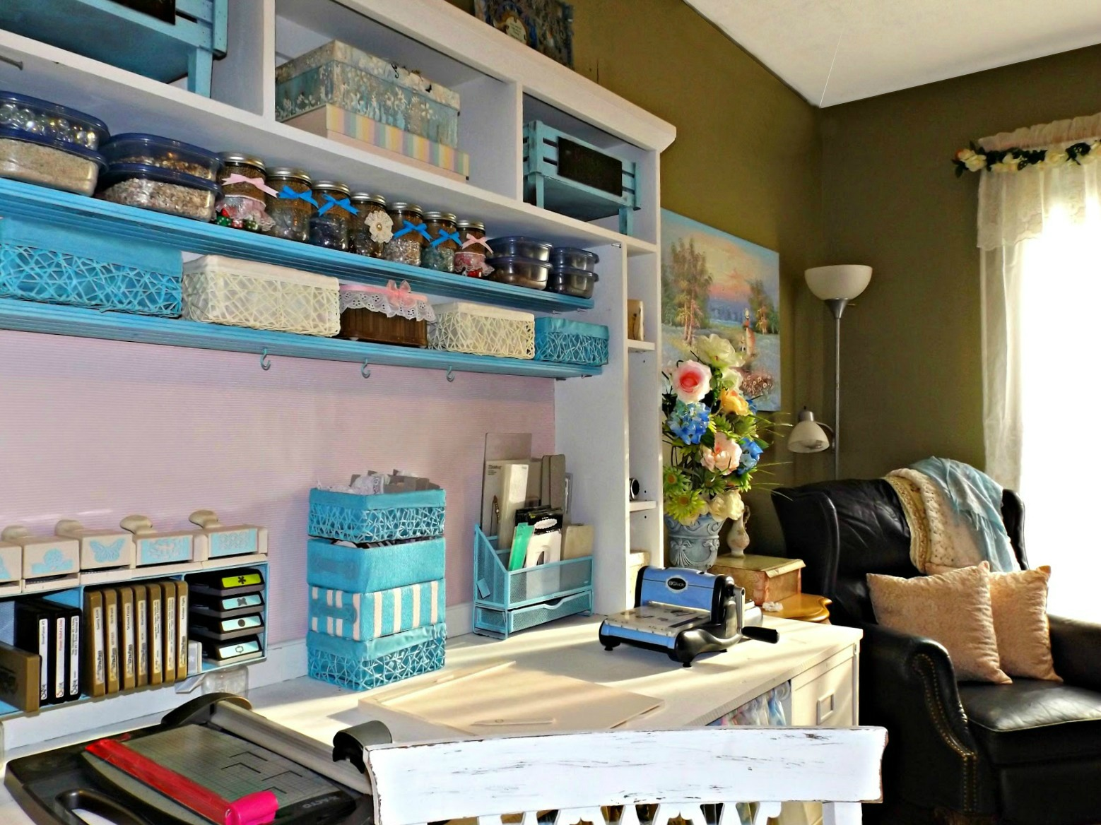 Craft Room Makeovers: Heartedly Handcrafted: My Craft Room Makeover For Under